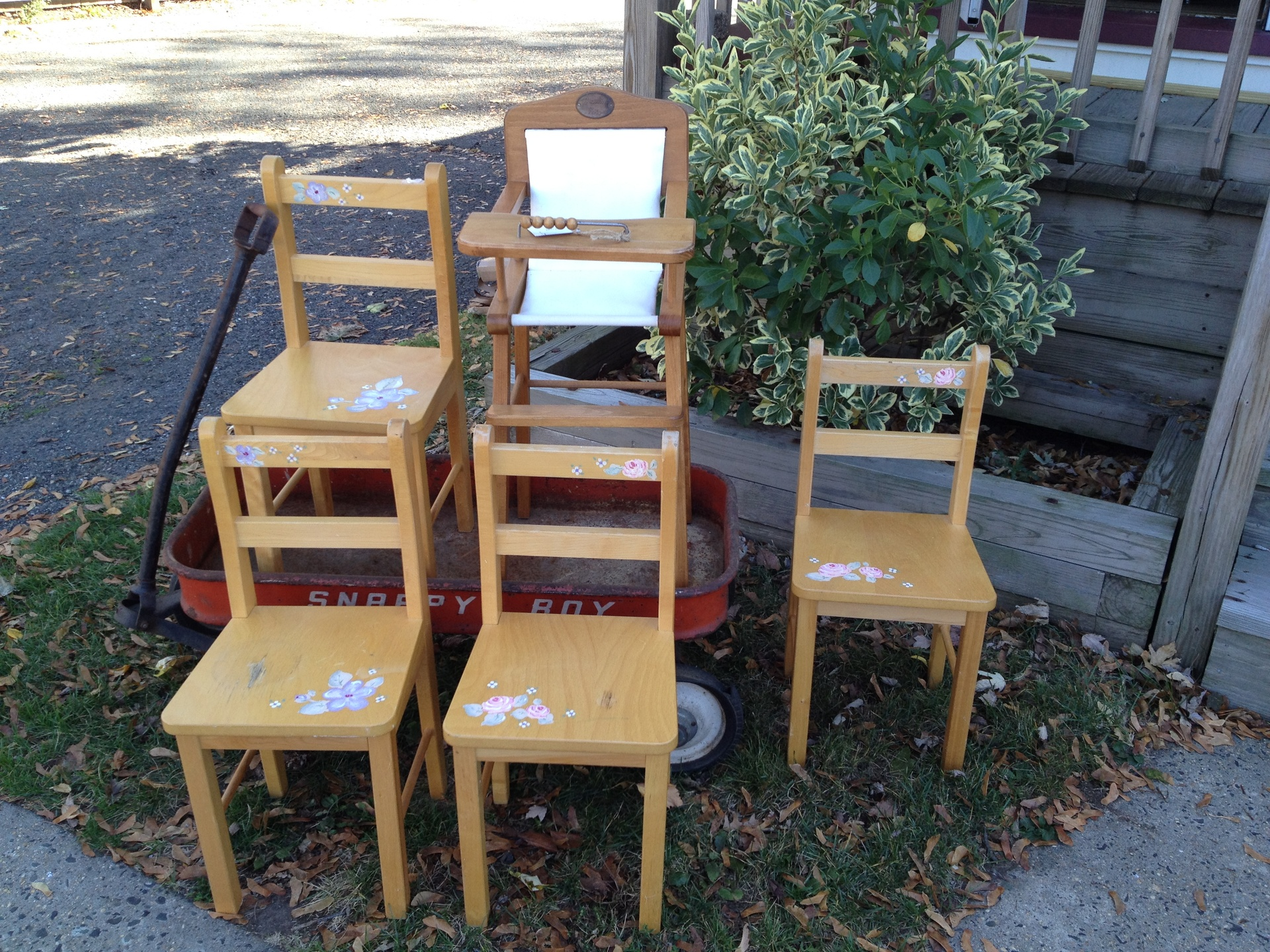 Hand painted children's chairs